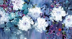 Pure Heart by Danielle O'Connor Akiyama - Embellished Canvas on Board sized 28x15 inches. Available from Whitewall Galleries